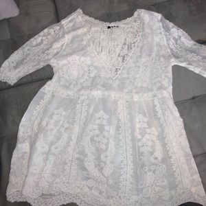 NWT Shein Batwing Lace Cover up